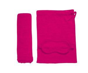 Set de viaje de 3 piezas – rosa fucsia