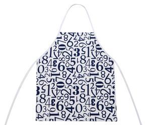 Delantal de cocina Números – azul