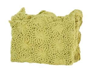 Manta Hand Crocheted – verde