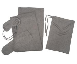 Set de viaje de 4 piezas – gris