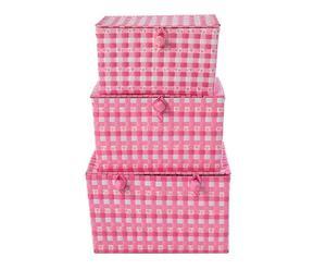 Set de 3 cajas de almacenaje Clara