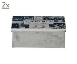 Set de 2 cajas de almacenamiento Charleen