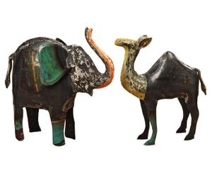 Set de 2 animales decorativos Kirabo