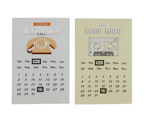 Set de 2 calendarios de pared Alyssa