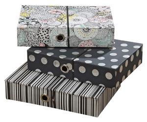 Set de 3 cajas de almacenaje para oficina