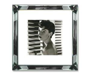 Foto Audrey Hepburn con marco de espejo – 47x47