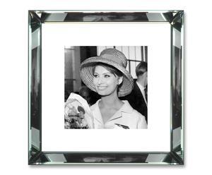 Foto Sophia Loren con marco de espejo – 47x47