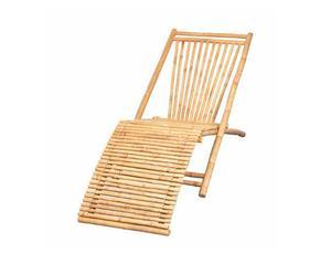 Tumbona de fibra de bambú RELAX - marrón