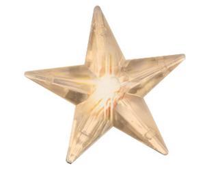 Cortina de luces LED Brian con 50 estrellas - crudo
