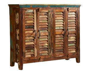 Aparador de madera con 2 puertas dobles – natural