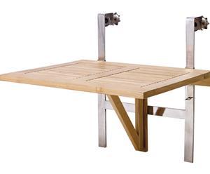 Mesa de exterior de teca con altura regulable Clarish