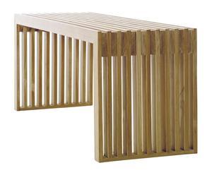 Banco de madera de teca - natural