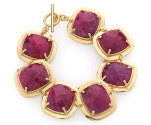 Pulsera en plata esterlina y cuarzo rubí Viola – rojo