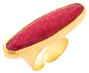 Anillo en plata esterlina y cuarzo rubí – rojo