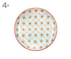 Set de 4 platos de cerámica Bleu D'Chine