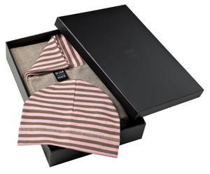 Set de gorro y bufanda para bebés – rosa y crudo