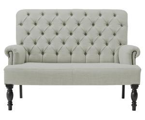 Sofá de 2 plazas Antuan - gris claro