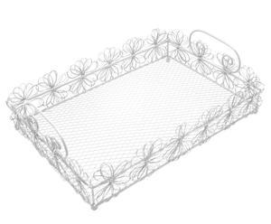 Bandeja de alambre ISIODORA - blanco