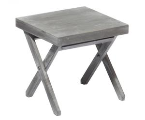 Mesa auxiliar plegable de madera INESSA - gris