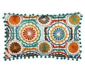 Cojín de algodón MARIPOSA, rectangular – multicolor