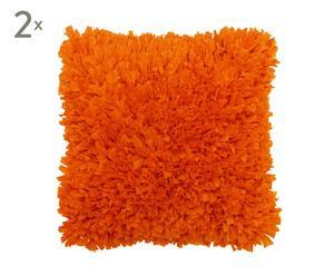 Set de 2 cojines de algodón ROMANO, cuadrado – naranja