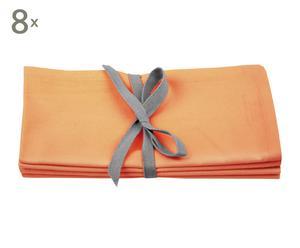 Se de 8 servilletas Cleany – naranja