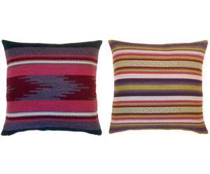 Set de 2 cojines Andes, cuadrados – lila