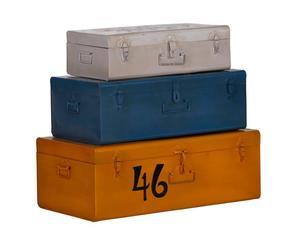 Set de 3 baúles de almacenamiento