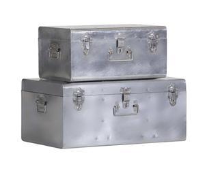 Set de 2 baúles de almacenamiento – plata