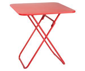 Mesa plegable de metal BREDA – rojo