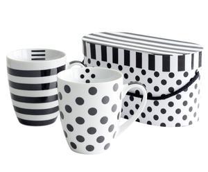 Set de 2 mugs Black&White