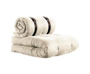 Sillón futón multifuncional Buckle up – beige