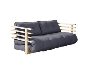 Sofá convertible en cama futón doble Funk – natural y gris