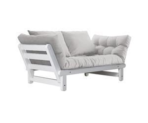 Sofá convertible en cama futón Beat – blanco y beige