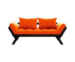 Sofá convertible en cama Bebop – negro y naranja