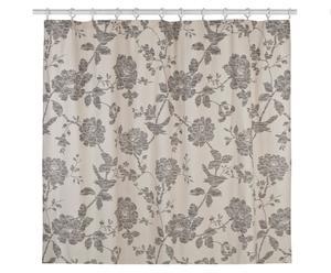 Cortina de ducha de algodón Bird, beige – 183x183