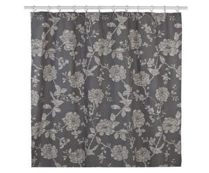 Cortina de ducha de algodón Bird, antracita – 183x183