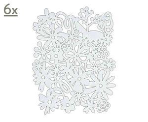 Set de 6 manteles individuales Blomma, blanco – 45x34