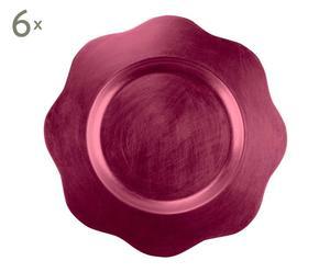 Set de 6 bajoplatos – rosa fucsia