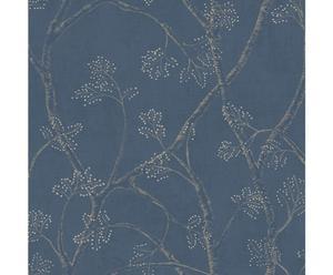 Papel pintado Branchly – azul, gris y beige