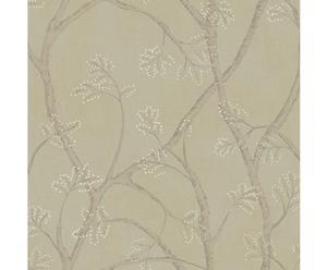 Papel pintado Branchly – beige y marrón