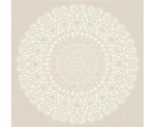 Papel pintado Grand Medaillon – blanco y beige