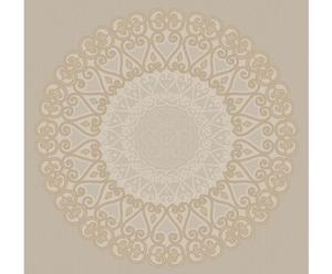 Papel pintado Grand Medaillon – beige y oro
