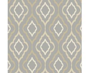 Papel pintado Diva – beige y gris