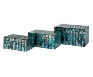 Set de 3 cajas ARAMIS – azul