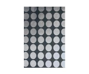 Papel pintado SPOT, círculo pequeño - antracita y plata