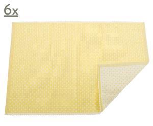 Set de 6 manteles individuales Maria – amarillo