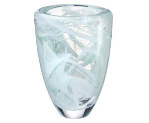 Handgefertigte Glasvase Atoll, H 21 cm