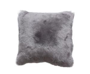 Cojín de piel de cordero de pelo corto - plata