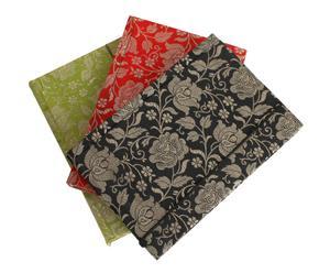 Set de 3 cuadernos OLATHE – verde, rojo y negro